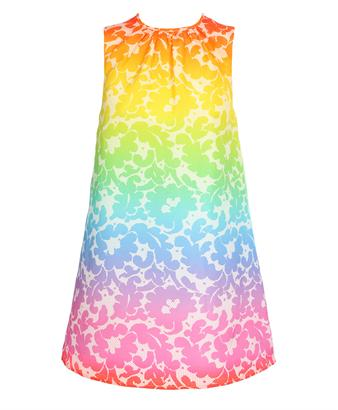 Christopher Kane Cotton-Silk Printed Smock Dress