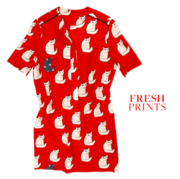 Victoria, Victoria Beckham Red Victoria Cat dress