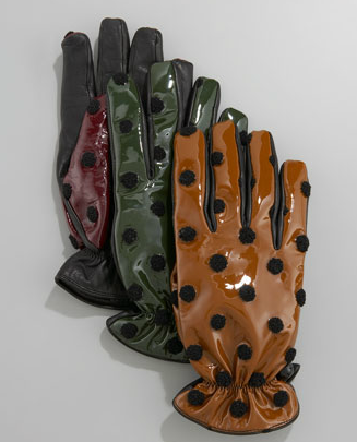 Polka-Dot Patent-Leather Glove