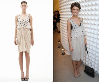 Shenae Grimes in 3.1 Phillip Lim Nude Dress